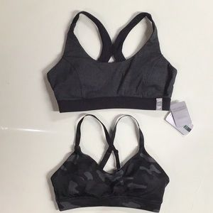 Lot of two padded sports bras size small